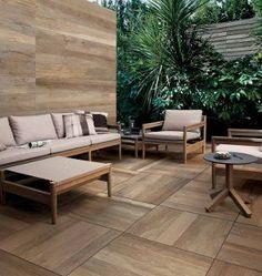 Porcelain Stoneware Pavers for Non-Combustible Rooftop Decks Outdoor Tiles, Outdoor Sofa, Outdoor Spaces, Outdoor Furniture Sets, Outdoor Decor, Patio Interior, Interior Design, Modern Backyard Design, Paving Design