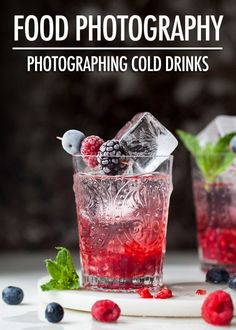 Food Photography: Photographing Cold Drinks - - Food Photography: Photographing Cold Drinks Graphic Design & POD (Print On Demand) Food Photography: Photographing Cold Beverages Food Photography Styling, Food Styling, Photography Tutorials, Photography Lessons, Free Photography, Landscape Photography, Photography Books, Photography Studios, Photography Magazine