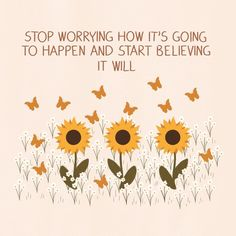 """Lou on Instagram: """"'Stop worrying how it's going to happen and start believing it will.' Prints and other products available via link in bio and highlights!"""" One Word Quotes, Self Love Quotes, Wise Quotes, Faith Quotes, Inspirational Quotes, Positive Self Affirmations, Positive Quotes, Positive Vibes, Motivation Sentences"""