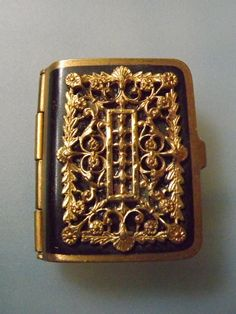 Victorian minature Book  pill box match safe snuff by musesjewelry.