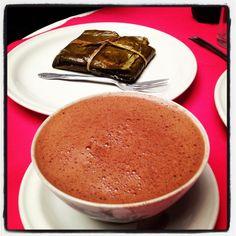 Tamal de mole y chocolate de Oaxaca! Love