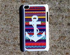 Colorful Tribal Aztec Anchor Nautical Ethnic iPod Touch 4 Case Cover