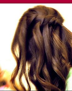 learn how to do 2 romantic,  boho chic, everyday, tousled, cute, waterfall/cascade French fishtail braid, half-up, half-down updo hairstyles with curls /waves on yourself ( step by step) on medium hair and long hair.   http://youtu.be/RNPU7x0TdUY