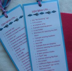 A fun I-spy activity to keep kids busy while flying!