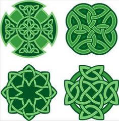 "Four Celtic Eternity Knots. The ancient Celts believed that ""Death is just the middle of a long life."""