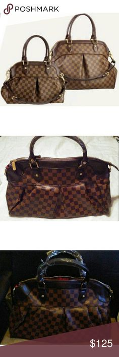 Handbag No Offers!!!!   Inspired Louis Vuitton Trevi bag. Long strap included. Faux leather.         LAST PIC IS FROM MY PREVIOUS POSH I WAS A TOP RATED SELLER.                                                   Cute with a top, denim skinny jeans, dress, skirt, shoes, heels, forever 21, steve madden, free people, aldo, bcbg, love & lemons, guess, mossimo, shoe dazzle, just fab, zara, misguided Bags Shoulder Bags