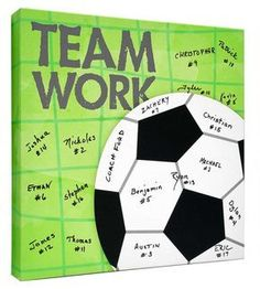 - Soccer Team Gift~ Soccer Coaches Gift~Personalized Gift~Signature Canvas~Soccer Ball~Sports Keepsake~Team Parent Gift Soccer Team Gift Soccer Coaches by CanvasKudosSHOP on Etsy Soccer Pro, Soccer Coaching, Soccer Games, Soccer Training, Life Coaching, Kids Soccer, Soccer Shirts, Sand Soccer, Soccer Snacks