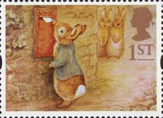 British First Class Postage Stamp ~ Beatrix Potter Illustration ....