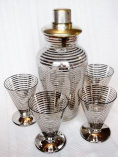 Vintage Cocktail Shaker Set
