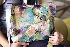 Floral Vegan Messenger Bag  Shoulder Purse crossbody bag or Backpack Handmade Designer *** You can get more details by clicking on the image. #Handmadehandbags