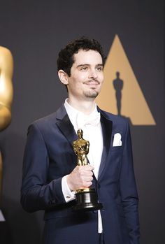Damien Chazelle, winner of the award for Directing for 'La La Land,' poses in the press room during the 89th Annual Academy Awards at Hollywood & Highland Center on February 26, 2017 in Hollywood, California.