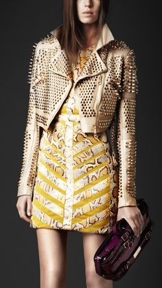 cropped studded jacket...oh my Burberry