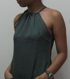 Beautifully simple halterneck dress tutorial from Cut Out + Keep.