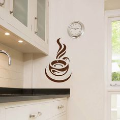 Cup of Coffee Smoke Housewares Wall Vinyl Decal by SuperVinylDecal, $24.99