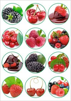 25 Digital Collage Sheet.Digital images.Printable от LaVanda36 Canning Labels, Jar Labels, Kitchen Labels, Kitchen Recipes, Bottle Top Crafts, Fruits For Kids, Circle Labels, Jam Jar, Gift Labels
