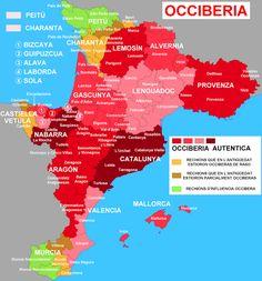 Occiberia en aragonés. Els 20 mapes més curiosos sobre els #Països Catalans. Los 20 mapas más curiosos sobre los paises catalanes, #Cataluña