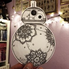 BB8 Mandala (drawing by zentaurius) Hope you like this lil fella ♡
