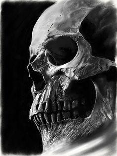 New tattoo designs skull illustrations ideas Hai Tattoos, Bild Tattoos, Skull Tattoos, Body Art Tattoos, Tattoo Drawings, Skull Drawings, Skull Tattoo Design, Skull Design, Tattoo Designs