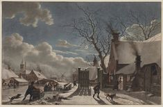 Winter Night in a Dutch Town by Jacob Cats | Cleveland Museum of Art, 1965.76