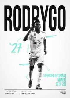 Metal Poster Rodrygo Goes 27