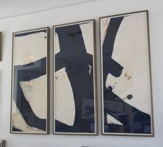Malta Triptych, in love Black And White Abstract, White Art, Triptych Art, Dream Art, Art Forms, Painting Inspiration, Wall Art Decor, Art History, Framed Art