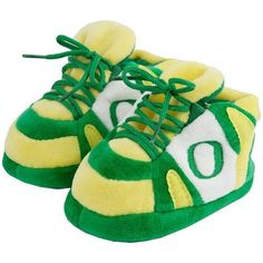 NCAA Baby Slipper Size: One Size Fits All, NCAA Team: Oregon by Comfy Feet. $13.95. Thick foam sole. Grippy bottoms for traction. Team colors and logo. Quality embroidery. Shoe lace detailing. ORE03PR Size: One Size Fits All, NCAA Team: Oregon Features: -Alabama Crimson Tide Baby Slipper in Red / White.-Padded upper material.-Thick foam sole.-100pct polyester slipper.-Warmest and most comfortable house slippers.-Machine washable and easy to clean.-Available in Red / Whit...