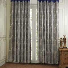 Traditional Leaves into a Round Shap Energy Saving Curtain Decor, Grommet Top Curtains, French Doors, Kitchen Window Treatments, Energy Saving Curtains, Bow Window, Curtains, House Interior, Valance Window Treatments