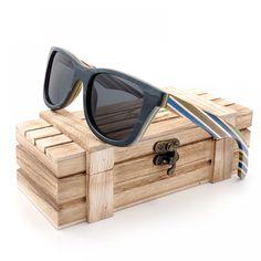 BOBO BIRD Skateboard Wooden Sunglasses Polarized Sunglasses Oculos de sol Men Vintage Wood Bamboo Sunglasses With Gift Box Vintage Stil, Vintage Men, Fashion Vintage, Retro Vintage, Polarized Sunglasses, Sunglasses Women, Sunglasses Price, Sunglasses 2017, Luxury Sunglasses