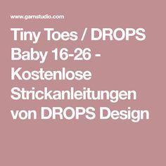 Tiny Toes / DROPS Baby 16-26 - Kostenlose Strickanleitungen von DROPS Design