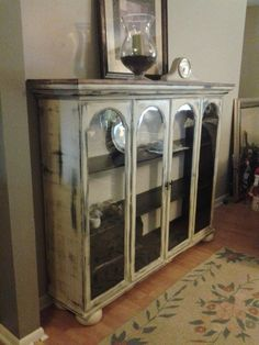 Image result for ideas for repurposing china cabinet