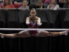 Gabby Douglas - Uneven Bars -Team USA, No question why they call her the flying squirrel
