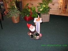 Garden Gnome with Thermometer