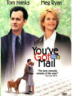 You've Got Mail American romantic comedy film directed by Nora Ephron. ~~~ Starring: Tom Hanks and Meg Ryan. See Movie, Movie List, Movie Tv, Beau Film, Best Romantic Comedies, Romantic Movies, Old Movies, Great Movies, 1990s Movies
