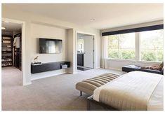Master Bedroom Plans, Master Bedroom Layout, Bedroom With Bath, Modern Master Bedroom, Master Bedroom Closet, Master Room, Bedroom Layouts, Bedroom Doors, Home Decor Bedroom