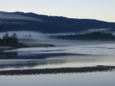 Early morning hike through the bay to Whalen Island, Sand Lake, OR.