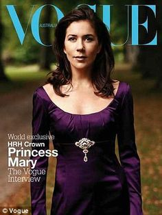Cover girl: The Princess is beloved in her home country of Australia, often featuring on the covers of magazines like Vogue and the monthly glossy, The Australian Women's Weekly