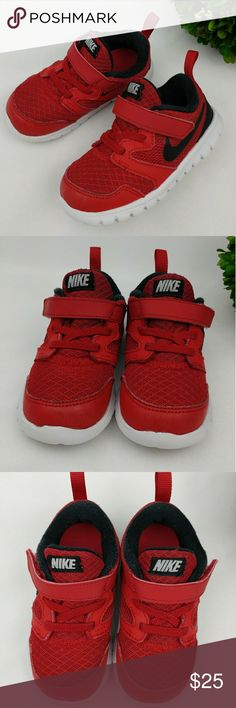 Nike toddler shoes Nike toddler shoes Black/white/red Have been washed and sanitized. Little signs of wear, piling inside, suffs, little nike logo on the inner side of the left shoe came off a little. Size 7c 13 cm Nike Shoes Sneakers