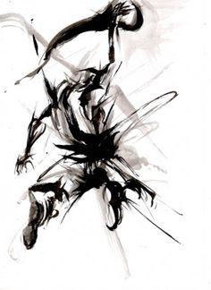 yu-ki nishimoto Martial, Samurai, Martial Arts, Drawings, Samurai Warrior