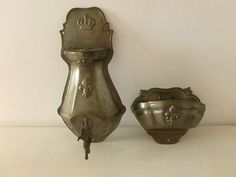 French Vintage Pewter Decorative Lavabo and by SouvenirsdeVoyages, $150.00