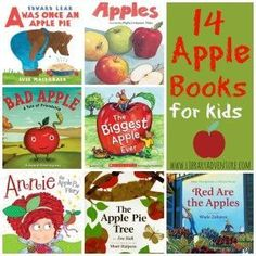 14 Apple Books for Kids put together by Erica for The Library Adventure!