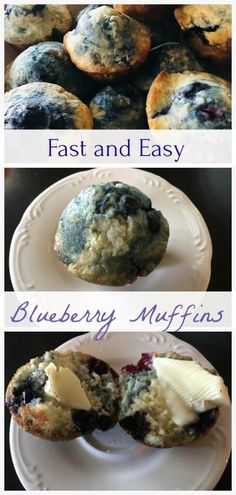 Sunday Morning Blueberry Muffins - The Spirited Thrifter Muffin Recipes, Baking Recipes, Healthy Recipes, Healthy Food, Easy Blueberry Muffins, Blue Berry Muffins, Eat Breakfast, Breakfast Recipes, Frozen Blueberries