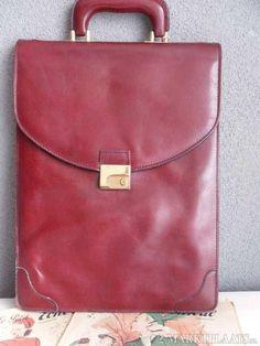 Vintage Ardenmen leather businessbag or laptopbag