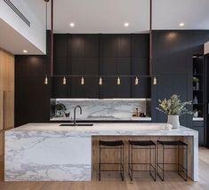 40 Modern Minimalist Kitchen Interior Design And Ideas Kitchen Marble, Home Decor Kitchen, House Design, Modern House, Contemporary Kitchen, Modern Interior Design, Kitchen Styling, Minimalist Kitchen, Minimalist Kitchen Design