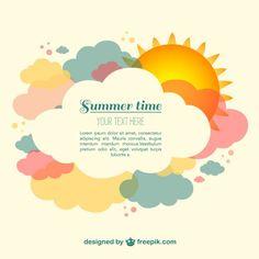 Tiempo vector verano