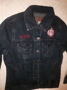 4ab31bcaa0 The product DELTA SIGMA THETA TRACK JACKET is sold by GreekExpressions  Embroidery Specialis… in our