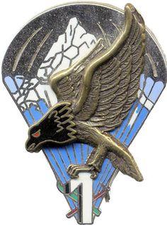 9 ° REGIMENT DE CHASSEURS PARACHUTISTE 1 ° CIE - SANS FAB Military Insignia, Morale Patch, Special Forces, Badge, Lion Sculpture, Wings, France, Statue, Netball Uniforms