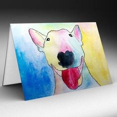 ENGLISH BULL TERRIER DOG ANY OCCASION GREETINGS CARD / BIRTHDAY ...  BRAND NEW