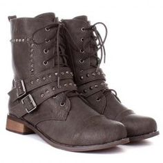 $20.50 Casual Women's Combat Boots With Punk Style Lace Up Belts Rivet Design