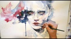 Portrait watercolor - Speed painting This video of her process is beautiful and inspiring!