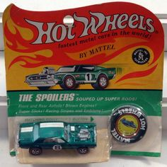 DTE 1970 CARD HOT WHEELS REDLINE THE SPOILERS  NO 6405 GREEN NITTY GRITTY KITTY